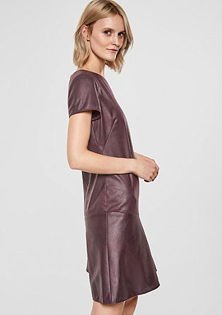 Faux leather dress from s.Oliver