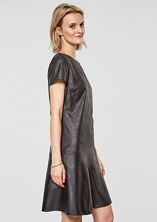 A-line dress in imitation leather from s.Oliver