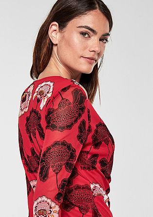Mesh-Shirt mit Cache Coeur-Ausschnitt