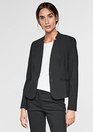 Elegant short satin blazer from s.Oliver