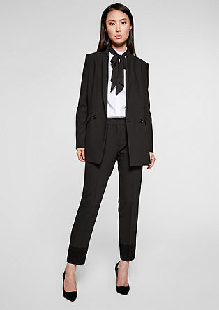 Long blazer with a twill texture from s.Oliver