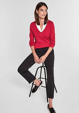 Dekorierter Pullover im 2-in-1-Look