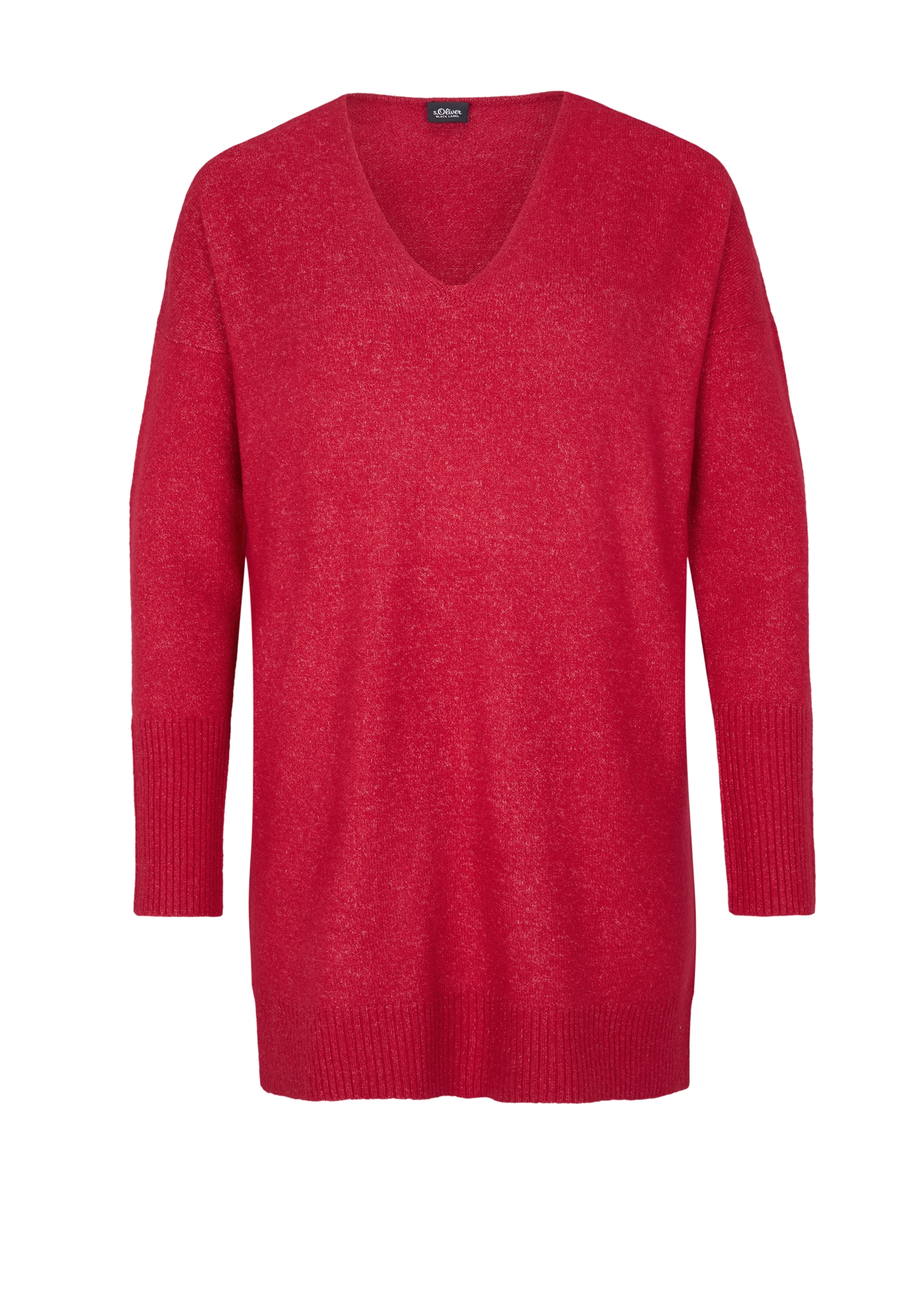 Long-Pullover   Bekleidung > Pullover > Longpullover   Rot   52% polyamid -  40% polyacryl -  5% wolle -  3% elasthan   s.Oliver BLACK LABEL