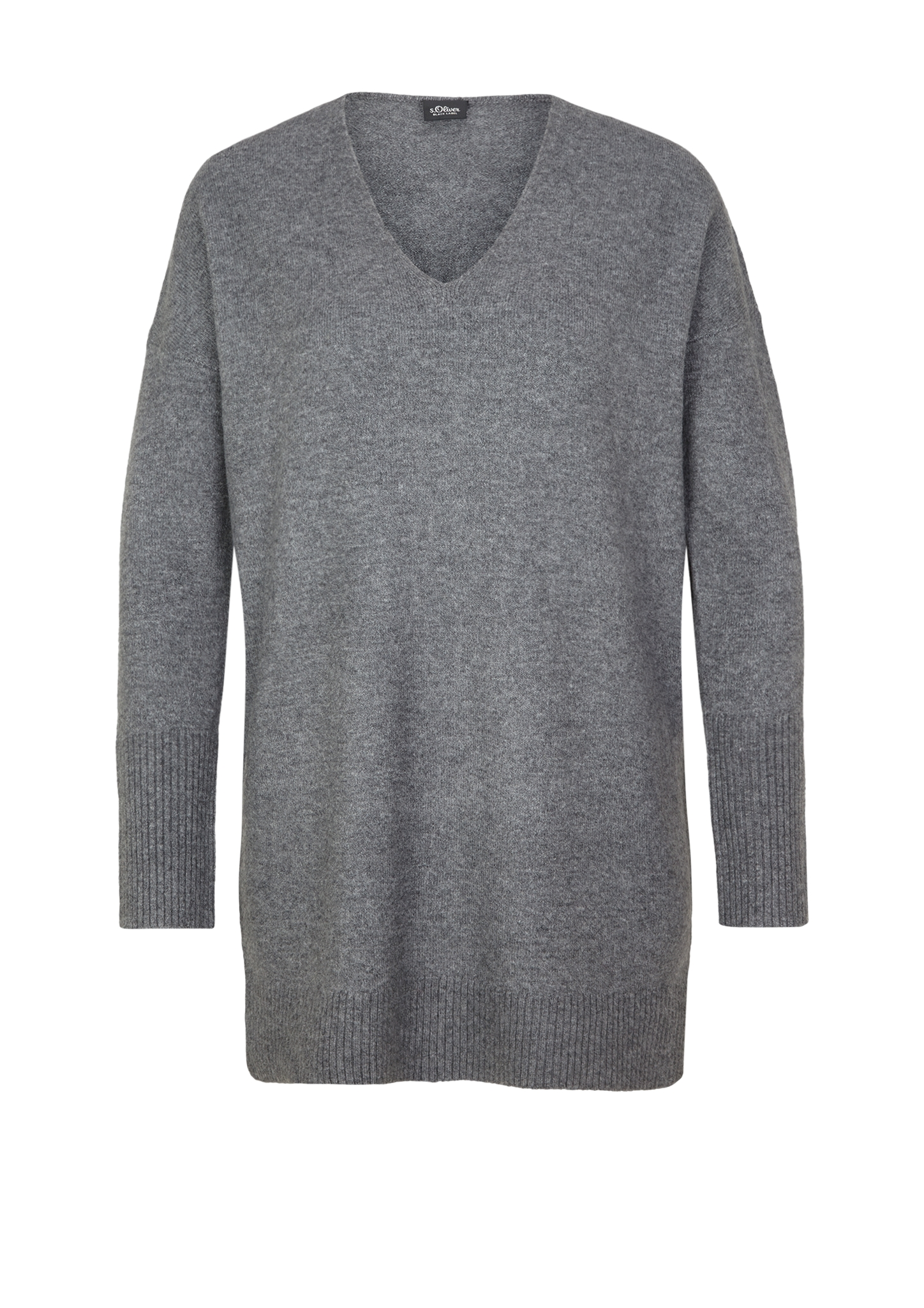 Long-Pullover   Bekleidung > Pullover > Longpullover   Grau   52% polyamid -  40% polyacryl -  5% wolle -  3% elasthan   s.Oliver BLACK LABEL