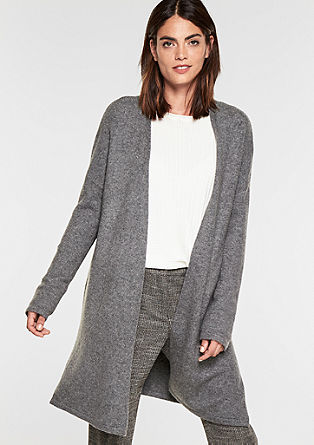Open-fronted cardigan in a wool blend from s.Oliver