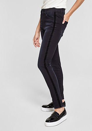 Sienna Slim: High rise jeans with velvet from s.Oliver
