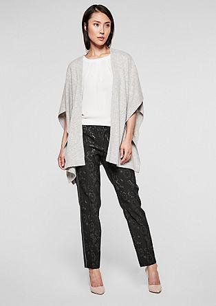 Sue slim: enkellange broek van jacquard