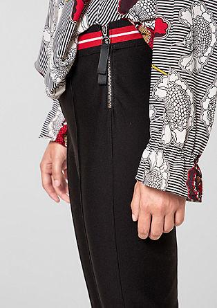 Sofia slim: broek met 7/8-pijpen en elastische band