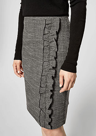 Pencil skirt with a flounce trim from s.Oliver