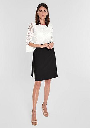 Two-tone jurk met kant