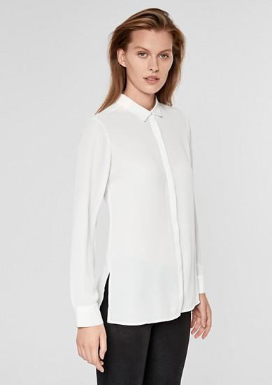 Bluse mit plissiertem Rückenteil