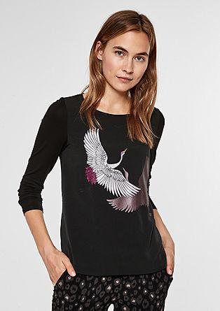 Artwork-Shirt mit Applikationen