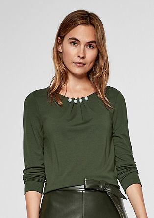 Elegant shirt met sierparels