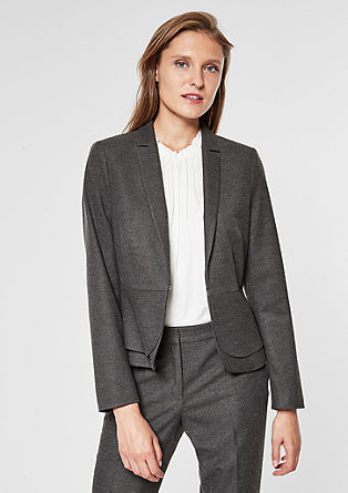 Flannel blazer with a peplum from s.Oliver