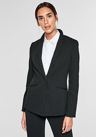 Fitted blazer made of crêpe from s.Oliver
