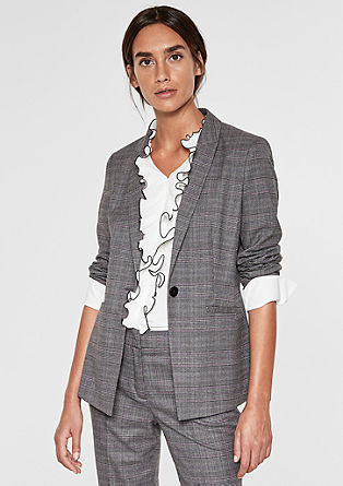Blazer with a Prince of Wales pattern from s.Oliver