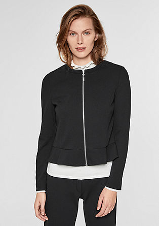Crêpe blazer with zip from s.Oliver