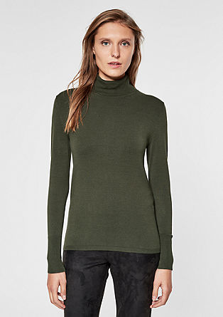 Lightweight polo neck jumper from s.Oliver