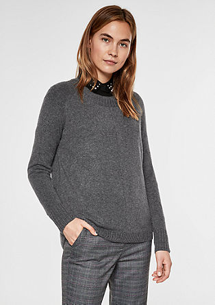 Fine knit jumper with decorative stitching from s.Oliver