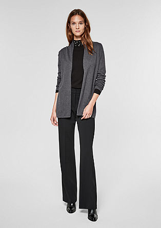 Long cardigan with a shawl collar from s.Oliver