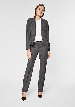 Rachel Straight: flannel trousers from s.Oliver