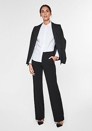 Ruched Straight: Crêpe trousers from s.Oliver