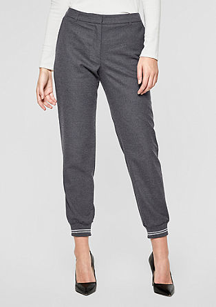 Sporty Fit: Flannel trousers with cuffs from s.Oliver