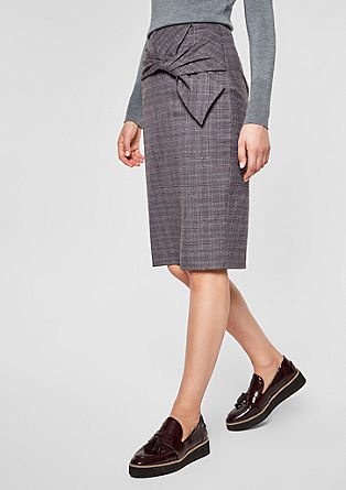 High-waisted skirt with draping from s.Oliver