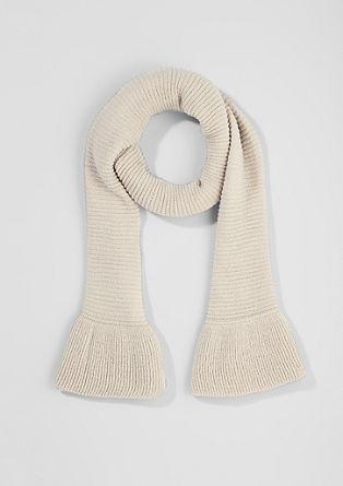 Gebreide sjaal met volant