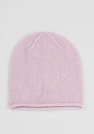 Textured knit beanie from s.Oliver