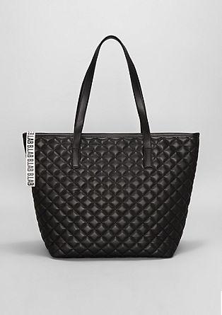Velika nakupovalna torba s karirasto teksturo