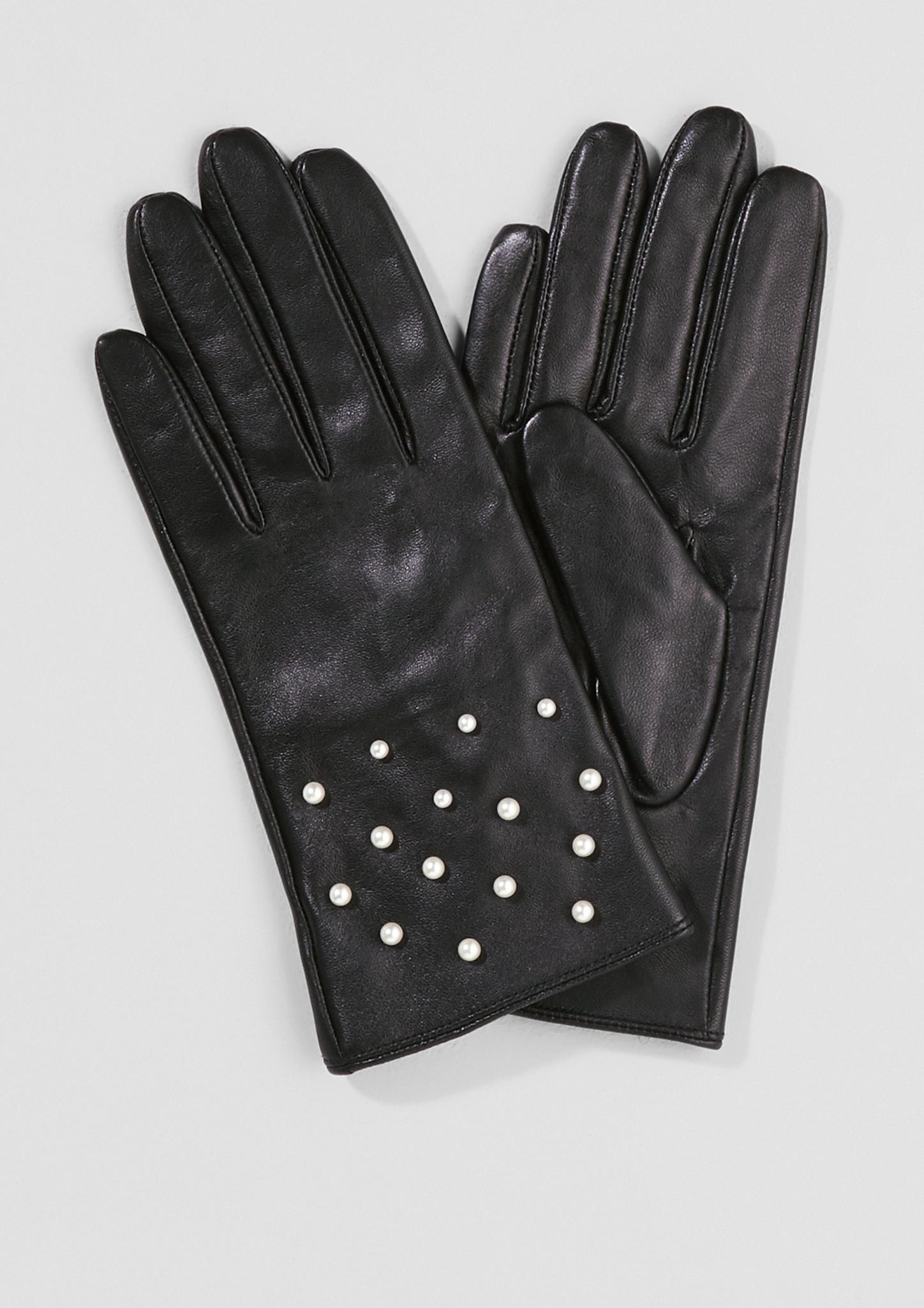 Lederhandschuhe | Accessoires > Handschuhe > Lederhandschuhe | Grau/schwarz | Obermaterial 100% leder| futter 100% polyester | s.Oliver BLACK LABEL