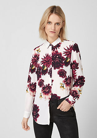 Delicate long blouse with an all-over pattern from s.Oliver