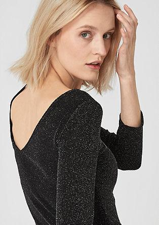 Třpytivé tričko s ozdobným uzlem