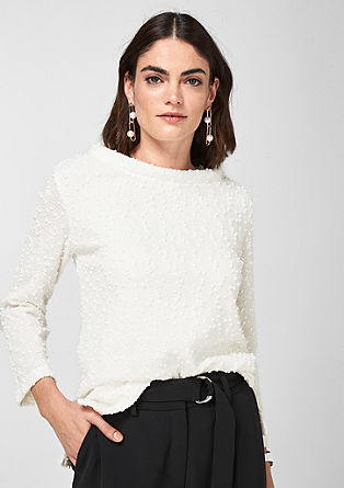 Textured top with sequins from s.Oliver