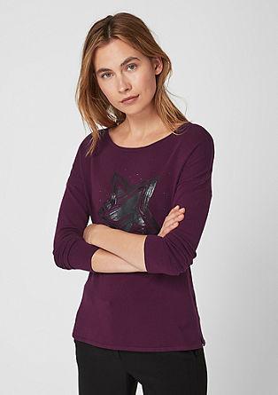 Pullover mit Metallic-Print