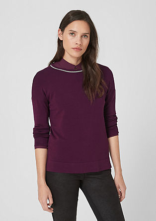 Pullover mit Schmuck-Kragen