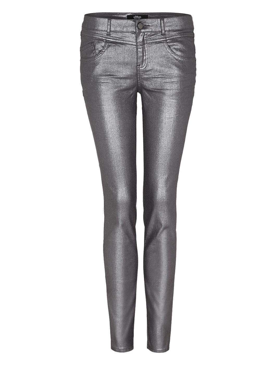 s.Oliver - Sienna Slim: Glänzende Jeans - 4