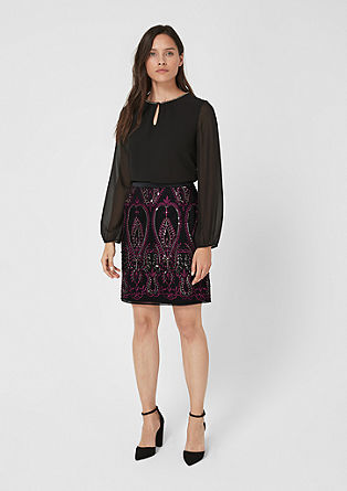 Embroidered sequin skirt from s.Oliver