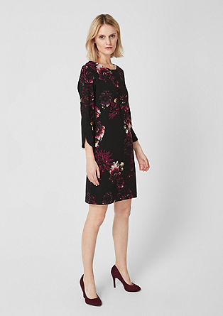 Stretch dress with a floral print from s.Oliver