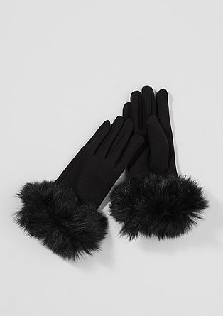 Gloves with faux fur from s.Oliver