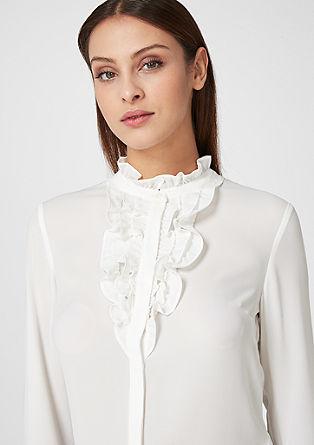 Bluza iz krepa z naborki