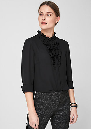 Crêpe blouse with ruffles from s.Oliver