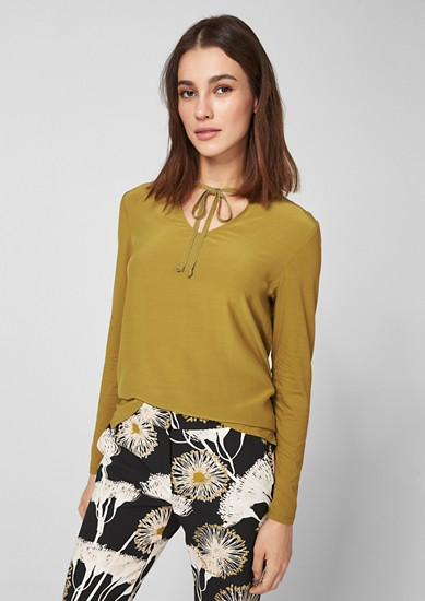 Blouse top with jewellery details from s.Oliver