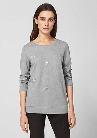 Sweatshirt with rhinestones from s.Oliver