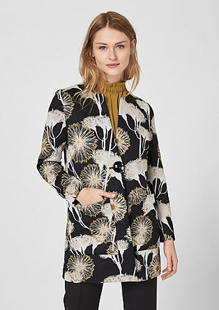 Chic jacket with a floral print from s.Oliver