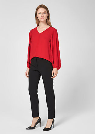 Crêpe blouse with pleated sleeves from s.Oliver