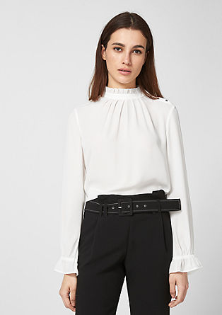 Crêpe blouse with frilled details from s.Oliver