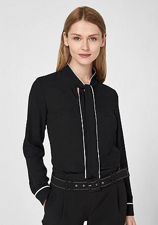 Chiffon blouse met striklint