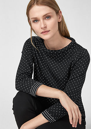 Polka dot top with bow details from s.Oliver